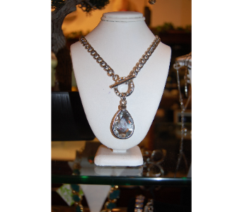 Large Teardrop Rhinestone Necklace in Princeton, Plainsboro, & Trenton NJ, Monday Morning Flower and Balloon Co.