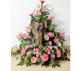Garden Angel in Traditional Sympathy Arrangement in Wyoming MI, Wyoming Stuyvesant Floral