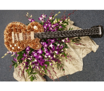 CASKET COVER GUITAR in Woodbridge NJ, Floral Expressions