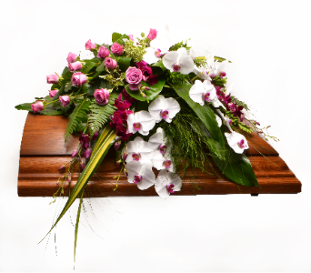 Delicate Whisper Casket Spray in Ft. Collins CO, Palmer Flowers