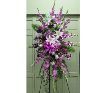 LAVENDER STANDING SPRAY in Woodbridge NJ, Floral Expressions