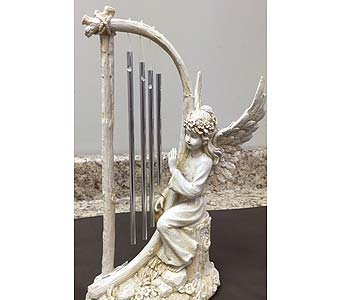 Angel with Harp in Brownsburg IN, Queen Anne's Lace Flowers & Gifts