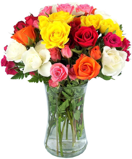 Summer's Hues Spray Roses in Fort Myers FL, Fort Myers Florist, Inc.