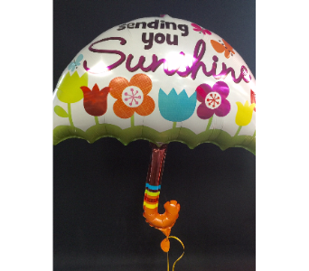 Sending You Sunshine Jumbo Mylar Balloon in Portland OR, Portland Florist Shop