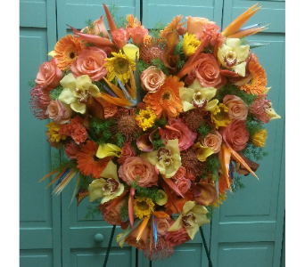 TROPICAL SOLID HEART in Woodbridge NJ, Floral Expressions