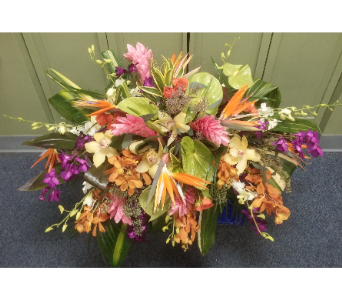 TROPICAL CASKET COVER in Woodbridge NJ, Floral Expressions