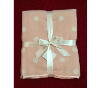 Light Pink Polka Dot Blanket in Conway AR, Conways Classic Touch