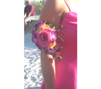 Bridemaids bright armband in Sarasota FL, Flowers By Fudgie On Siesta Key