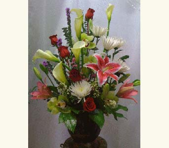 Arrangement in Northridge CA, Flower World 'N Gift