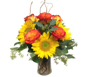 Sunflowers & Roses by Country Greenery in Moorhead MN, Country Greenery