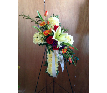 Colorful Life Cross  in Guilford CT, Guilford White House Florist