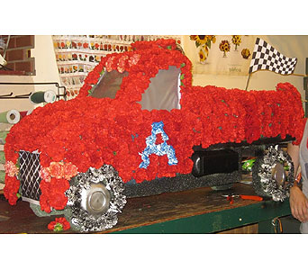 Big Red Truck 3-D in Schenectady NY, Felthousen's Florist & Greenhouse