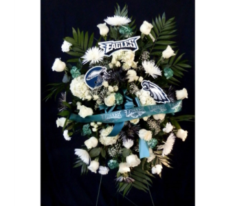 Eagles Funeral Spray in Norristown PA, Plaza Flowers