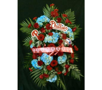 Phillies Funeral Spray in Norristown PA, Plaza Flowers