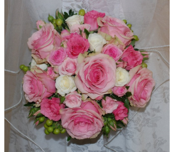 Bridal bouquet pink and white in Scarborough ON, Helen Blakey Flowers