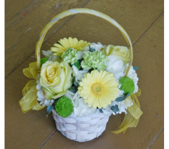 Flower girl basket in Scarborough ON, Helen Blakey Flowers
