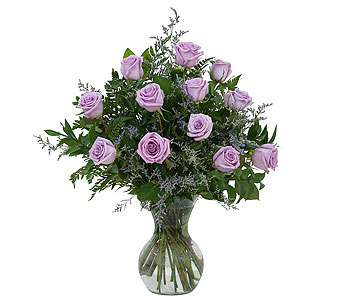 Lovely Lavender Roses in Holladay UT, Brown Floral