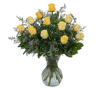 Yellow Rose Beauty in Eugene OR, The Shamrock Flowers & Gifts