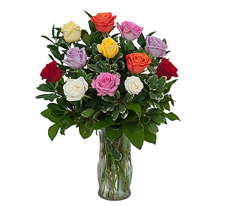 Dozen Roses - Mix it up! in Mount Morris MI, June's Floral Company & Fruit Bouquets