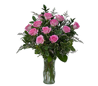 Pink Rose Perfection in Poplar Bluff MO, Rob's Flowers & Gifts