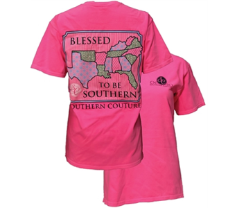 SC Comfort Blessed to be Southern - Neon Pink in Pensacola FL, Southern Gardens