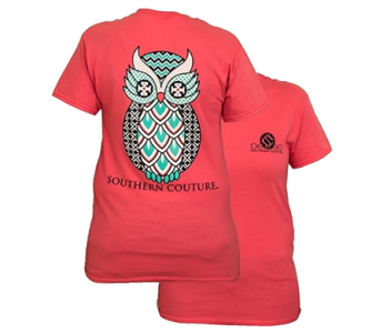 SC Classic Geo Owl - Coral Silk in Pensacola FL, Southern Gardens