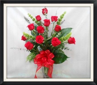 Passionate Love Dozen Roses in Tyler TX, The Flower Box