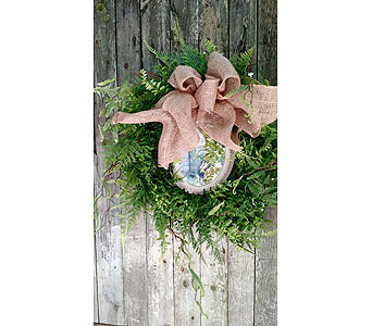 Garden Mirror Wreath in Ambridge PA, Heritage Floral Shoppe