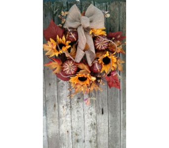 Autumn Harvest Wreath in Ambridge PA, Heritage Floral Shoppe