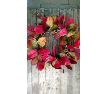 Magnolia Leaf Wreath in Ambridge PA, Heritage Floral Shoppe