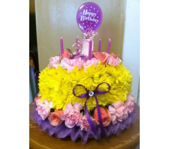 Spring Birthday Cake in New Iberia LA, Breaux's Flowers & Video Productions, Inc.