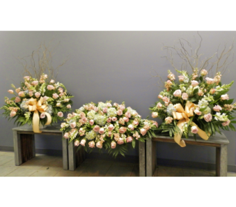 Peach Funeral Set in Somerset NJ, Flower Station