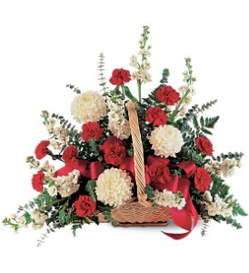 Red & White Fireside Basket