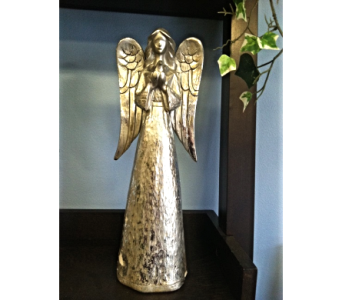Silver Angel in Royal Oak MI, Irish Rose Flower Shop
