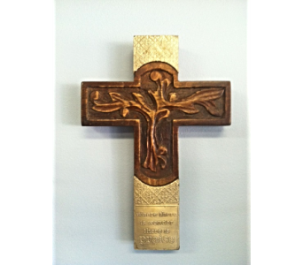 Wooden Tree of Life Cross in Royal Oak MI, Irish Rose Flower Shop
