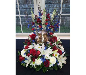 Remembrance Ceremonial Arrangement in New Paltz NY, The Colonial Flower Shop