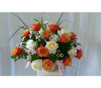 Garden Basket of Roses in West Palm Beach FL, Heaven & Earth Floral, Inc.