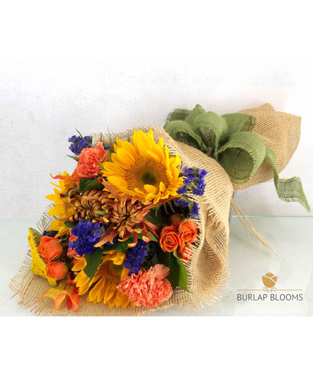 Burlap Blooms: Let the Sunshine In. in Winston-Salem NC, George K. Walker Florist