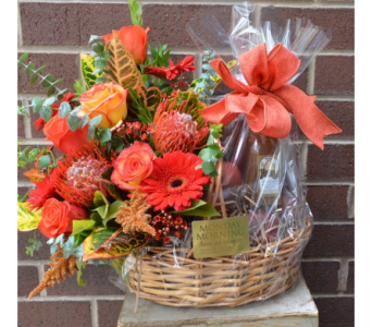 Fruit and Flower Basket in Princeton, Plainsboro, & Trenton NJ, Monday Morning Flower and Balloon Co.