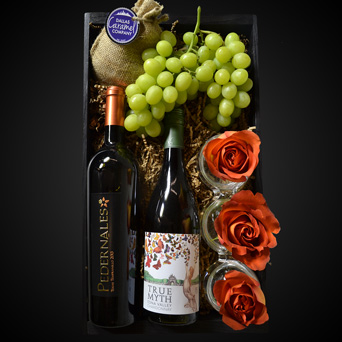 Wine Tour for Two Gift Basket in Dallas TX, Dr Delphinium Designs & Events