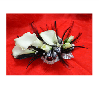 Black Tie Affair Corsage in Easton MD, Robin's Nest