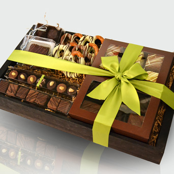 Chocolate Addiction Gift Basket in Dallas TX, Dr Delphinium Designs & Events