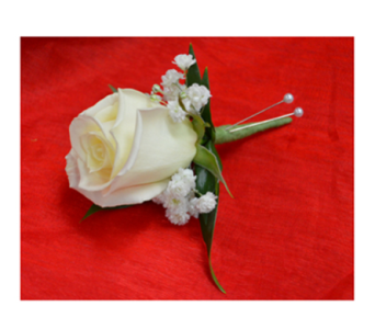 White Rose Boutonniere in Easton MD, Robin's Nest