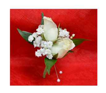 Miniature White Rose Boutonniere in Easton MD, Robin's Nest