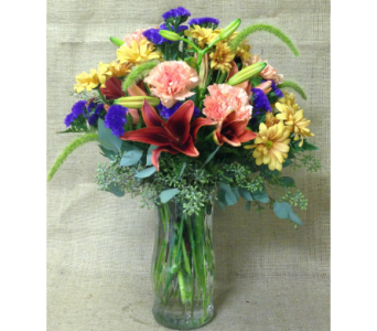 Fall into Autumn Vase Arrangement - All-Around in Wyoming MI, Wyoming Stuyvesant Floral