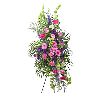 Forever Cherished Easel Spray in Cary NC, Cary Florist