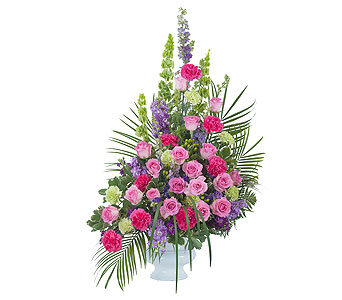 Forever Cherished Crescent Spray in Schaumburg IL, Deptula Florist & Gifts, Inc.