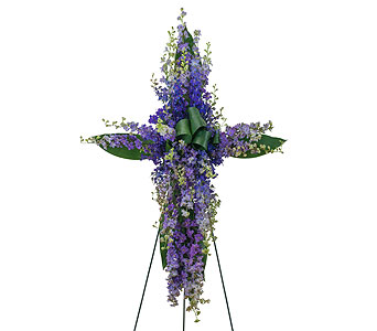 Lovingly Lavender Cross in Lakehurst NJ, Colonial Bouquet