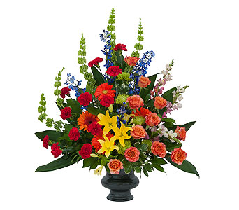 Treasured Celebration Urn in Breese IL, Mioux Florist