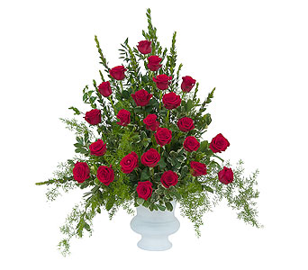 Royal Rose Urn in Schaumburg IL, Deptula Florist & Gifts, Inc.